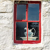 Museum window, West Burra