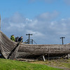 Reproduction Viking boat on Unst.