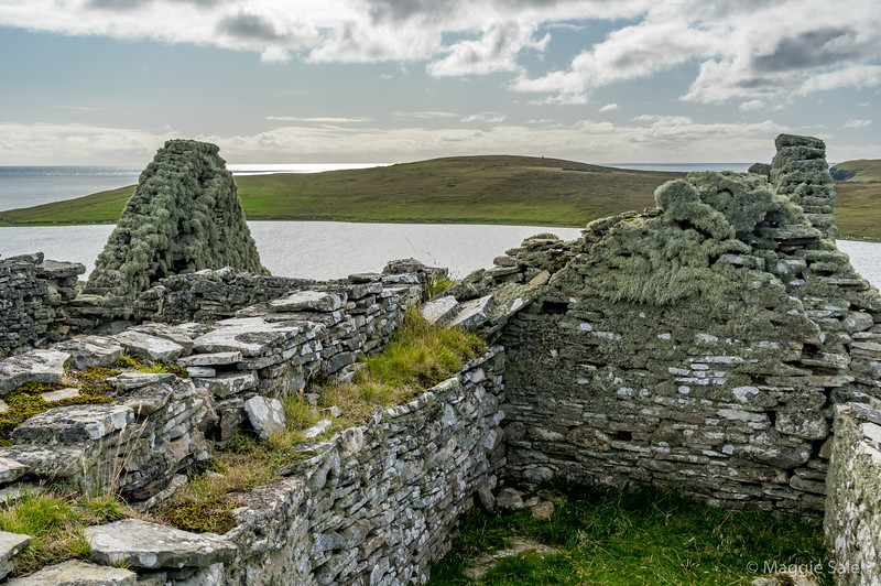 Abandoned crofts, Island of Bressay
