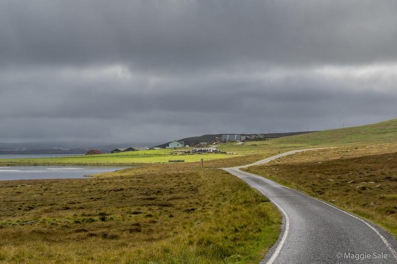 Road on east coast of Northmavine