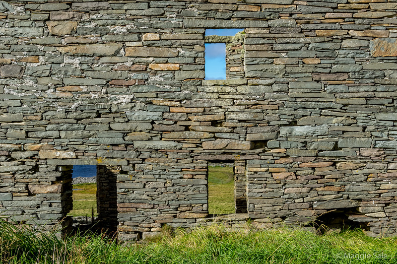Laird's house back wall.