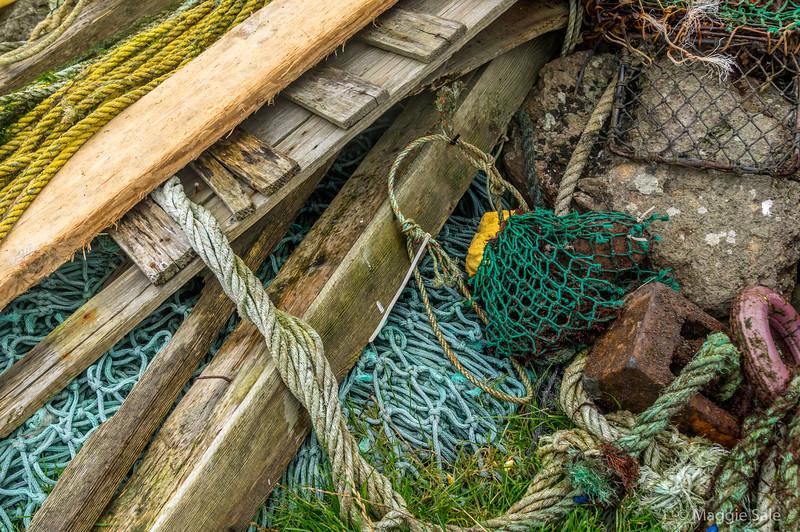 Abandoned fishing gear, Stenness, Northmavine