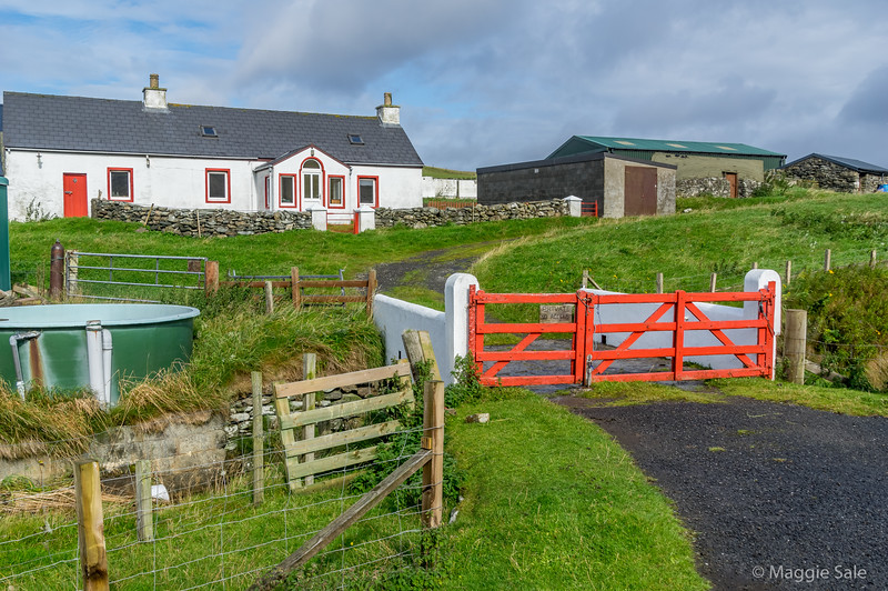 The most northern house in the UK, at Skaw, Unst