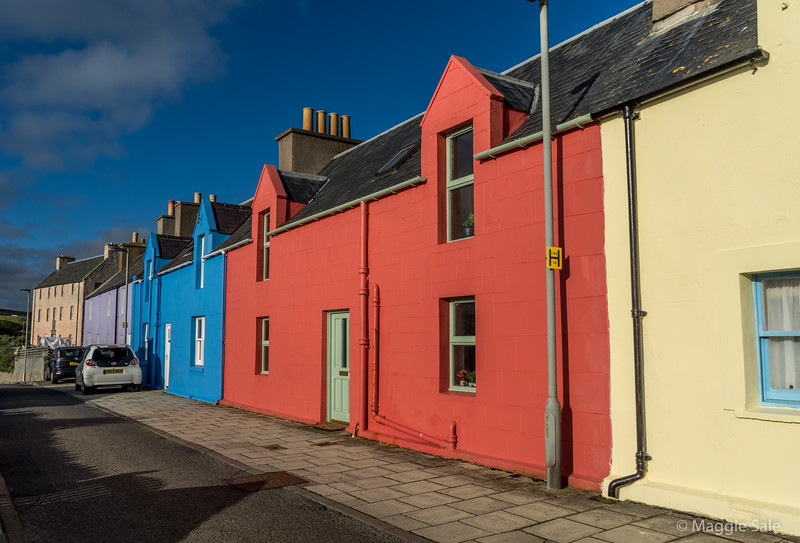Colourful houses in Scalloway, Mainland