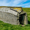 Old boat roof hut, West Burra, South Mainland