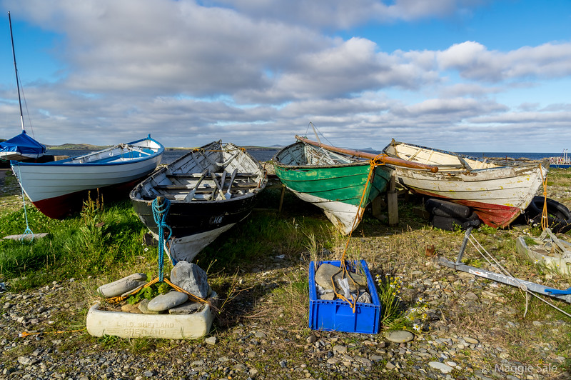 Boats at Leebitton, South Mainland