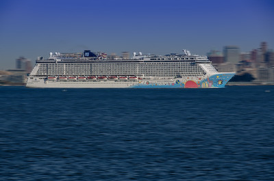 Norwegian Cruise Leaving New York City