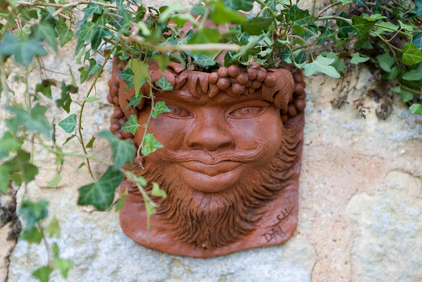 Terracotta wall-planter