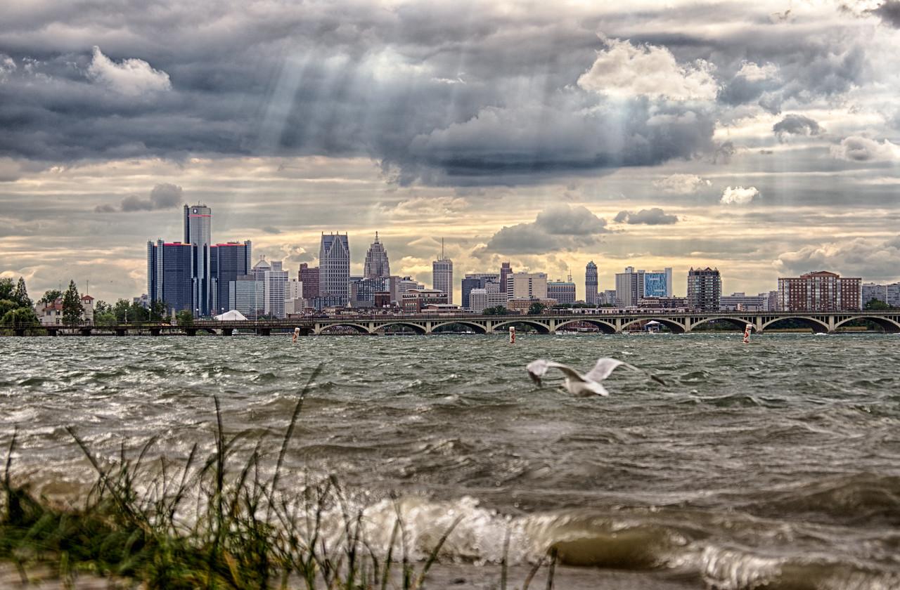 Detroit Skyline from Belle Isle<br /> Detroit, MI