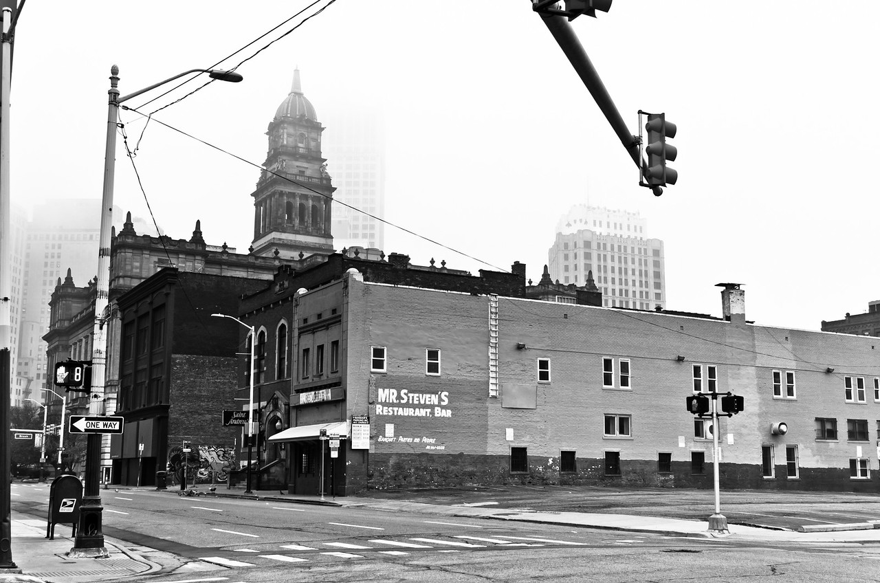 Mr. Steven's, affectionately known as Steve's Place with Saint Andrews Hall right next door<br /> Downtown Detroit, MI