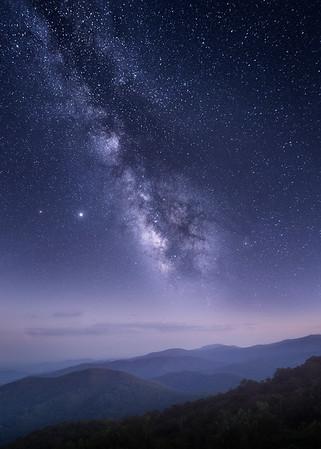 Milky Blue Ridges