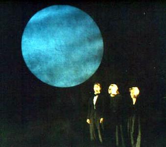 Moon turns blue