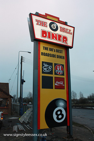 The 8 Ball Diner near Witham
