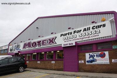 Motex,Car Parts Fascia at Wickford in Essex