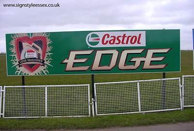 Castrol Signage at Santa Pod Raceway
