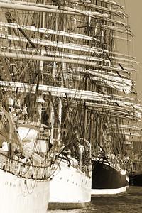 Tallships Delfsail, in sepia