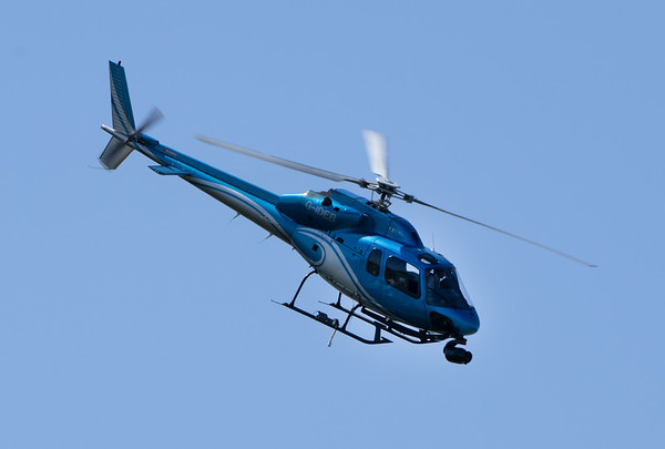 Helicopter with TV Camera at Silverstone F1 Weekend (Jul 2021)