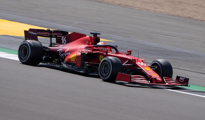 Charles Leclerc in Ferrari F1 Car at Silverstone (Jul 2021)