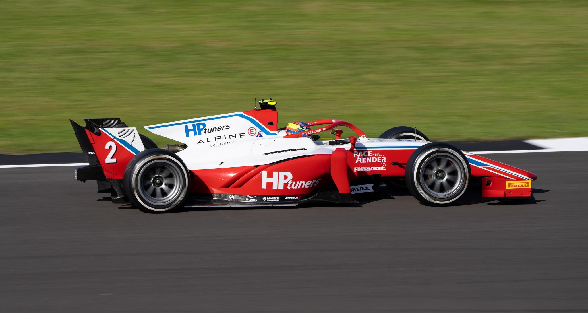 Oscar Piastri in Prema F2 Car at Silverstone (Jul 2021)