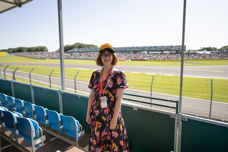 View of Vale from Hospitality Grandstand at Silverstone (Jul 2021)
