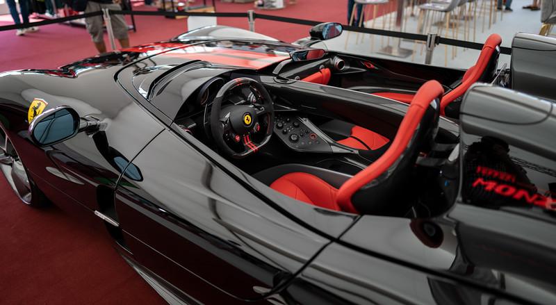 2021 Ferrari Monza SP2 in the Silverstone Fusion Lounge (Jul 2021)