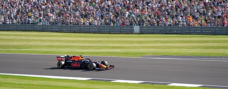 Max Verstappen in Red Bull F1 Car at Silverstone (Jul 2021)