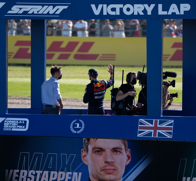 Victory Lap After F1 Sprint at Silverstone (Jul 2021)