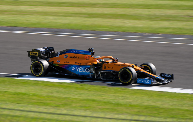 Daniel Ricciardo in McLaren F1 Car at Silverstone (Jul 2021)