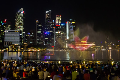 Waterfront laser show