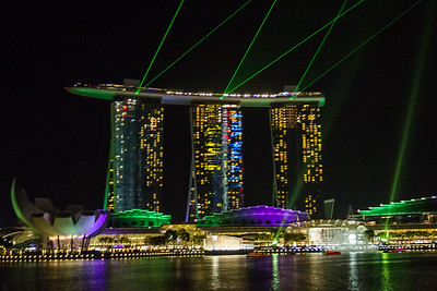 Laser show at waterfront