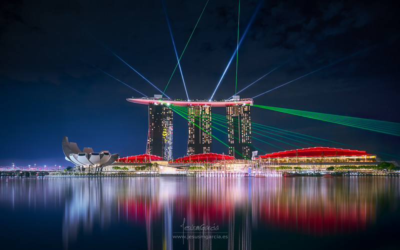 Marina Bay Sands Light Show - Singapore