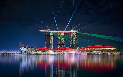 Marina Sands Bay Light Show - Singapore