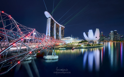 Marina Sands Bay from Top - Singapore
