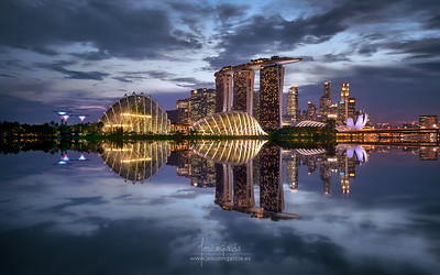 Marina Sands Bay in Blue Hour - Singapore