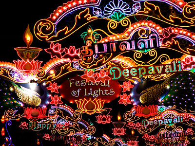 Happy Deepavali (Diwali) (Festival of Lights), Little India (Singapore)