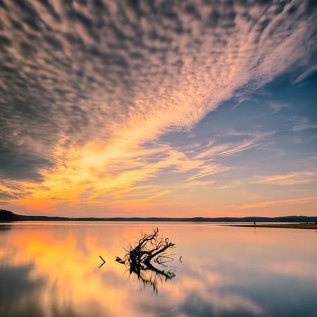 Sunset at Jordan Lake, NC.