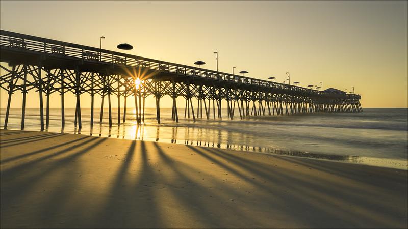 Garden City pier at sunrise