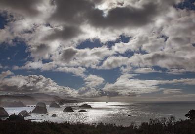 Clouds & Pacific at Elk, California, 2011
