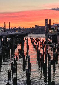 Sunset on Hudson River, 2019