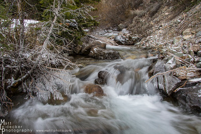 Lost Mine Canyon creek after a solid freeze the night before.