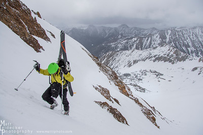 Craig Wolfram nears the top of the ridge leading to the summit.