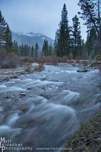 West Pass Creek slips by