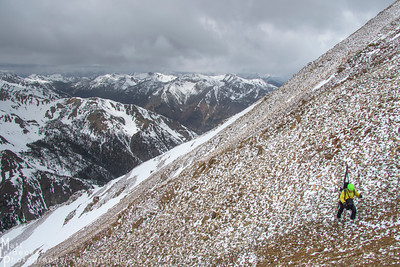 Many high Boulder summits are blaneted by massive talus slopes.