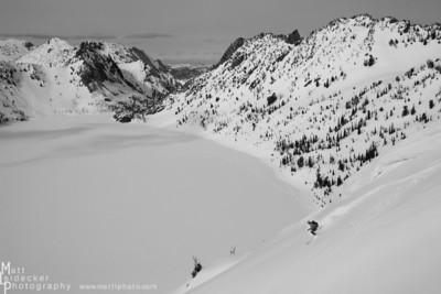 Sawtooth Lake skiing.