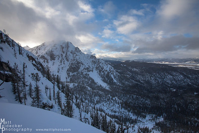 Looking north along the Sawtooth front towards Mystery Mountain.