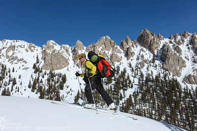 Bluebird day with a stunning Sawtooth backdrop.