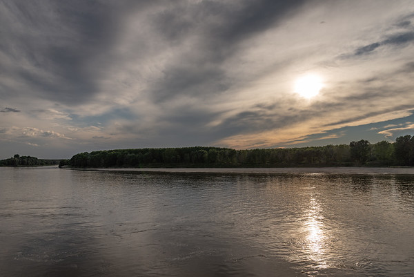 Po River Sunset - Lido Po, Guastalla, Reggio Emilia, Italy - July 22, 2018