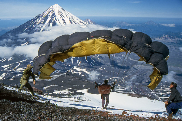 Paraglider - Kamchatka, Russian Federation - Summer 1993