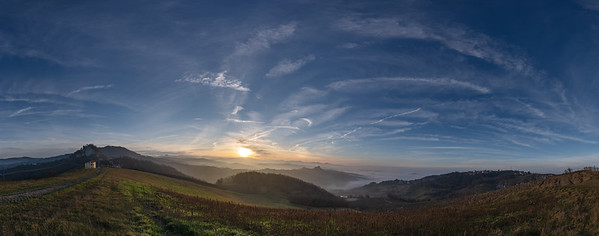 Sunset - Canossa, Reggio Emilia, Italy - February 2, 2020