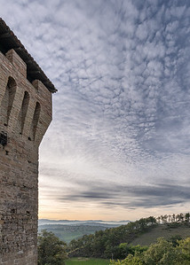 Sunset - Sarzano Castle, Sarzano, Casina, Reggio Emilia, Italy - October 5, 2019